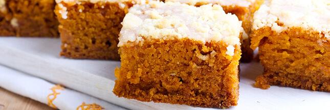 Dessert au potimarron: gâteau léger aux noix, idée recette automne bio