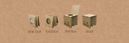 Se soulager grâce à des boîtes en carton!