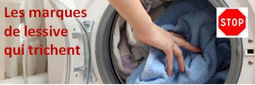 Evitez les lessives sales qui ont triché