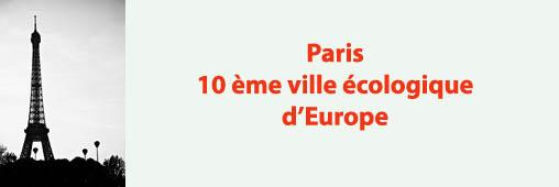 Paris, 10ème ville la plus écologique d'Europe