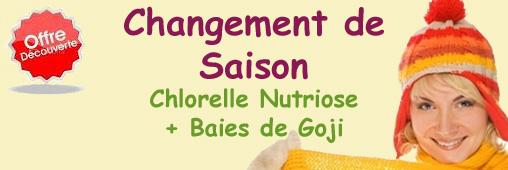 Offre Découverte Chlorelle Nutriose et Goji – Changement de Saison