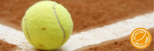 Tennis: les balles jaunes finissent en revêtement de sol