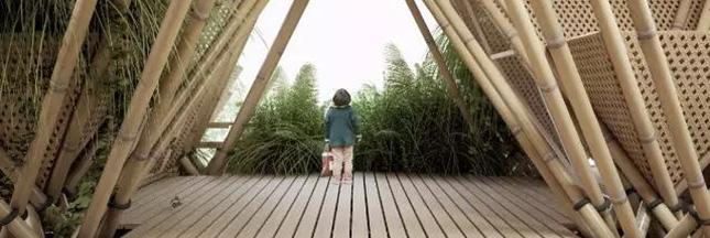 Une ville construite tout en bambou, en photos