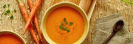 Notre recette de soupe de carotte à l'orange