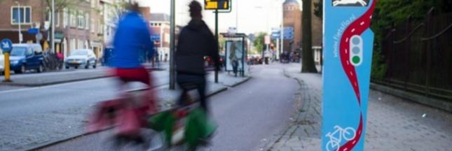 Avec la signalisation Flo, les cyclistes hollandais ne mettent plus pied à terre