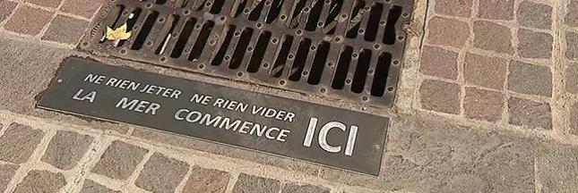 Des messages sur les plaques d'égouts pour lutter contre la pollution