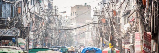 Delhi: des canons à eau pour lutter contre la pollution
