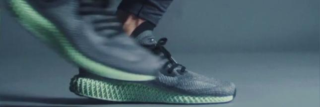 Adidas lance des baskets imprimées avec de la lumière et de l'oxygène