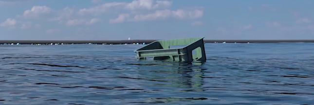 Ocean Cleanup: la première barrière flottante à l'essai à San-Francisco