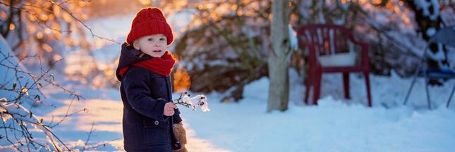 Que faire au jardin avec son enfant en hiver?