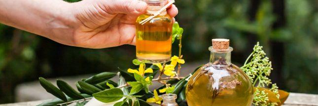 huile essentielle fleur de bach, extraits de plante pour combattre le stress