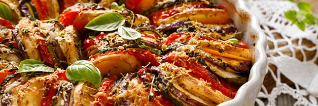 Recette: tian de légumes de saison, un accompagnement gratiné!
