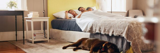 les polluants toxiques dans la chambre à coucher