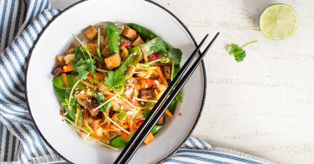 Miam! Le tofu aux légumes de printemps en papillote
