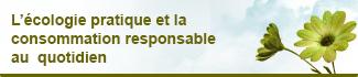 Consommer Durable, l'écologie pratique et la consommation responsable au quotidien