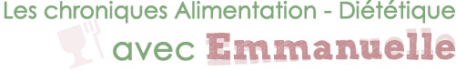 Nutrition et diététique avec Emmanuelle