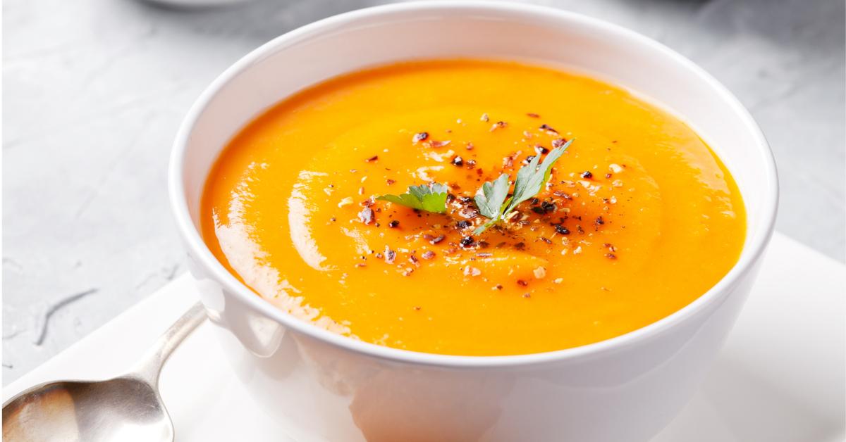 Notre recette de soupe patate douce carotte fraîche au miel