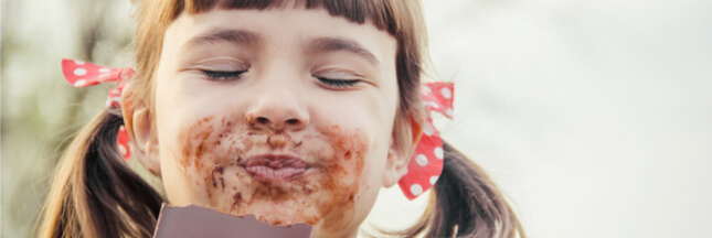 donner du chocolat enfants