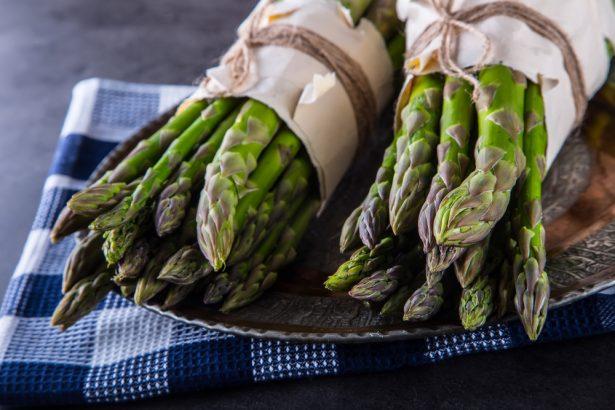 clafoutis vert, asperges