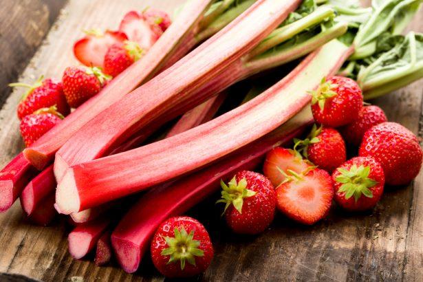rhubarbe fraise trio mousseux