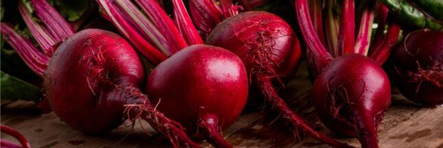 La betterave rouge: un concentré de bienfaits toute l'année