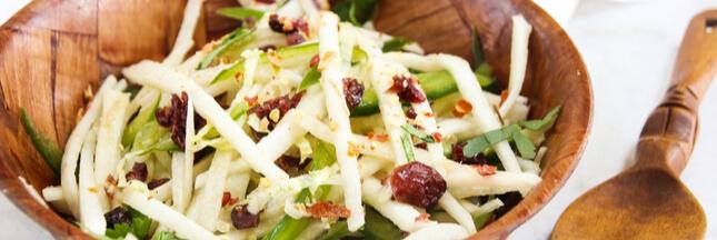 Recette: salade fraîche aux navets et agrumes