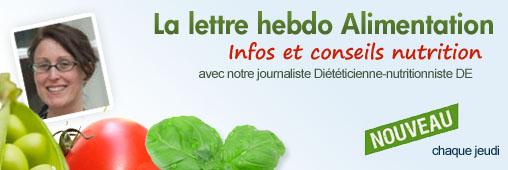 Une newsletter Alimentation - nutrition pour les fidèles de consoGlobe