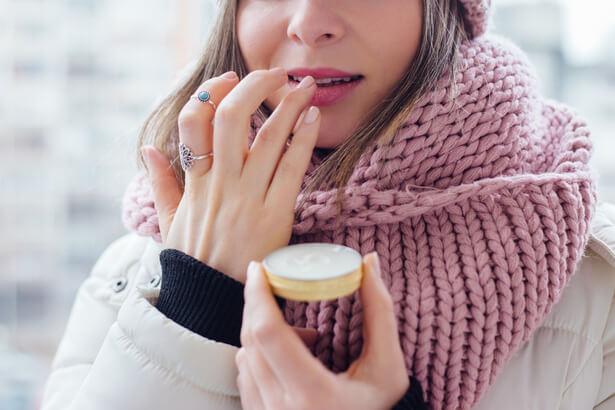 soin des lèvres en hiver