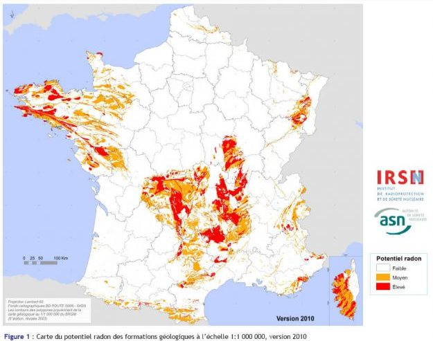 radon, carte france