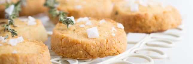 Fondez doucement pour nos sablés noix de cajou - parmesan