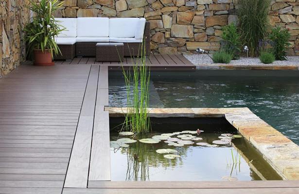 baignade écologique dans une piscine naturelle