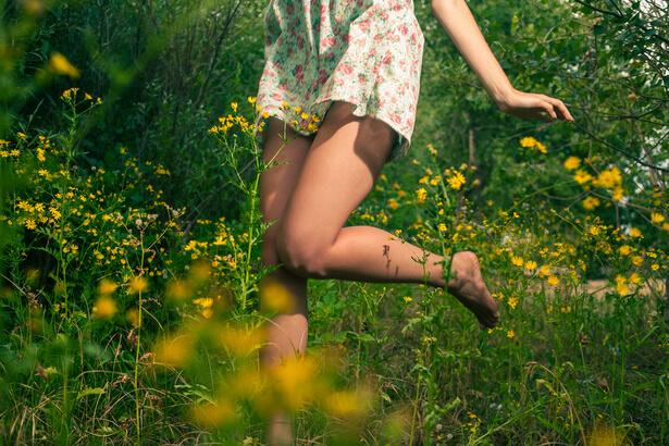 jambes légères