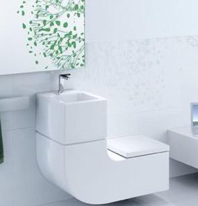 Economie d 39 eau vos toilettes avec lavabo int gr - Toilette design pas cher ...