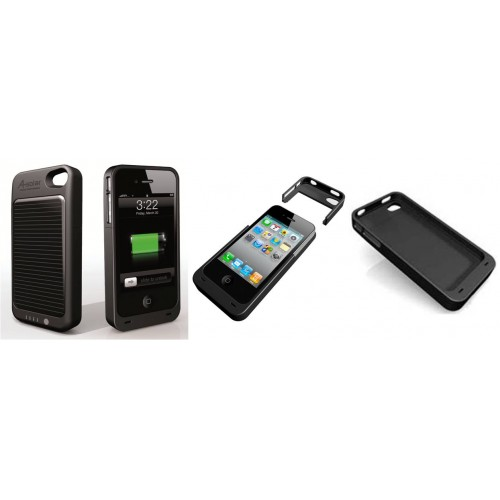 la coque chargeur solaire pour iphone 4 pratique et colo. Black Bedroom Furniture Sets. Home Design Ideas