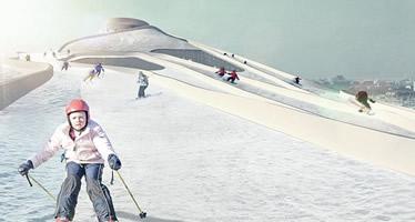 Piste de ski sur incinérateur
