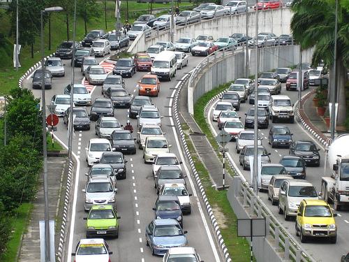 voiture embouteillage