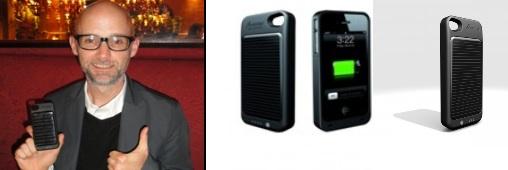 Les stars et la coque chargeur solaire iPhone 4 de consoGlobe !