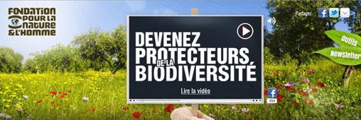 Fondation pour la Nature & l'Homme : la nouvelle campagne pour la protection de la biodiversité
