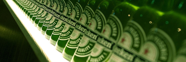 Heineken, la bière en bouteille verte