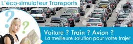 consoGlobe lance un éco-simulateur Train - avion - voiture