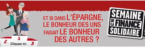 Semaine de la Finance Solidaire : coup d'envoi le 3 novembre