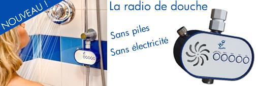 Une radio sous la douche, sans pile, ni électricité !