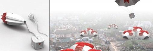 """Parachute spécial """"premiers secours"""""""