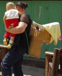 hygiène naturelle infantile, pantalon fendu