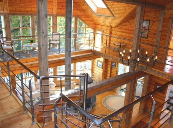 L avantage des constructions ossature bois for Interieur en bois maison