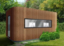Envie de calme achetez vous un bureau de jardin cologique - Chalet 20m2 avec mezzanine leroy merlin ...