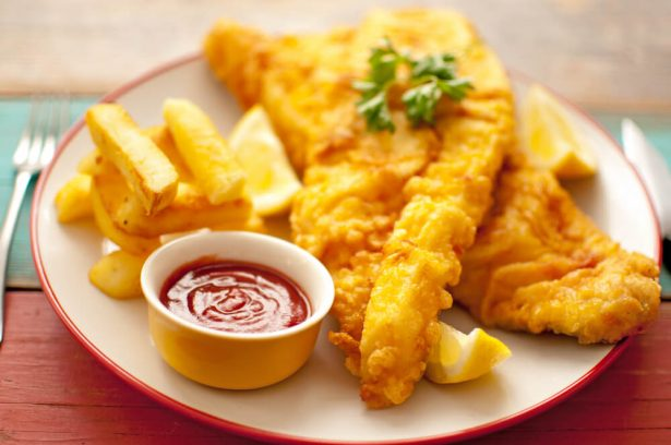 églefin, fish n' chips