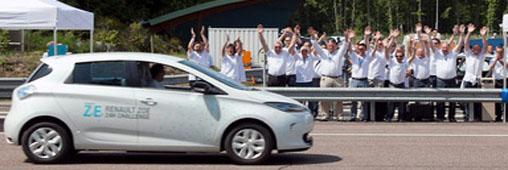 La Renault électrique Zoé bat un record : 1618 km en 24 h
