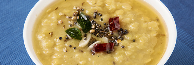 Recette végétarienne exotique: dahl aux baies de goji