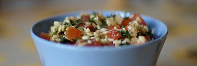 Recette bio : salade de boulgour aux légumes de saison